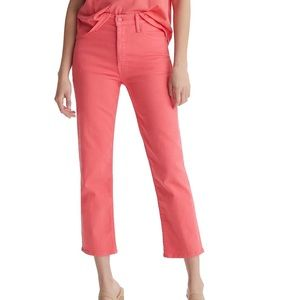Mother The Tomcat Ankle Jeans, Paradise Pink